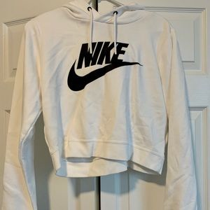 Nike cropped white sweater, new!